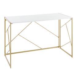 "LumiSource Folia 45""W Desk, Gold/White"