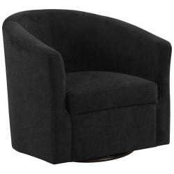 Monarch Specialties Swivel Club Chair, Black