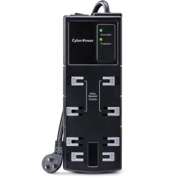 CyberPower CSB808 Essential 8-Outlets Surge Suppressor 8FT Cord - Plain Brown Boxes - 8 x NEMA 5-15R - 1800 J