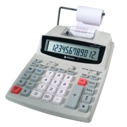 Datexx DP-32AD 12-Digit Printing Calculator, White