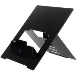 """R-GO TOOLS FLEXIBLE LAPTOP STAND Adjustable Stand, Ergo, Black, TAA - 0.8"""" Height x 23.5"""" Width - Black"""