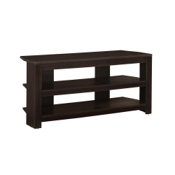 """Monarch Specialties TV Stand, 3-Shelf, For Flat-Panel TVs Up To 40"""", Cappuccino"""