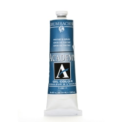 Grumbacher Academy Oil Colors, 5.07 Oz, Payne's Gray, Pack Of 2