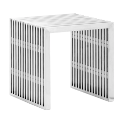 Zuo Modern Novel Single Bench, Silver
