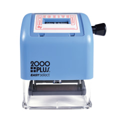 "2000 PLUS® Received Date Stamp Dater, Easy Select Self-Inking RECEIVED Date Stamp Dater, 1 7/8"" x 1"" Impression, Red Ink"