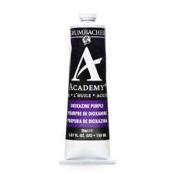 Grumbacher Academy Oil Colors, 5.07 Oz, Dioxazine Purple, Pack Of 2