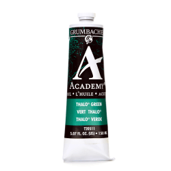 Grumbacher Academy Oil Colors, 5.07 Oz, Thalo Green (Blue Shade), Pack Of 2
