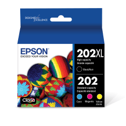 Epson® T202XL-BCS High-Yield Black And Color Ink Cartridge
