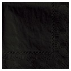 "Hoffmaster Napkins, 4-3/4"" x 4-3/4"", Black, Case Of 1,000 Napkins"