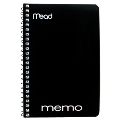 """Mead® Wirebound Side-Opening Memo Book, 4"""" x 6"""", 1 Hole-Punched, College Ruled, 40 Sheets"""