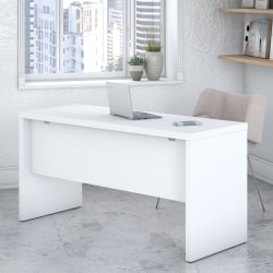 "kathy ireland® Office by Bush Business Furniture Echo 60""W Credenza Desk, Pure White, Standard Delivery"