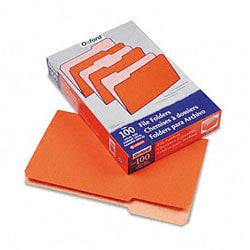 Pendaflex® Two-Tone Color File Folders, Legal Size, Orange, Box Of 100