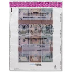 """MMF 16"""" FREEZFraud Deposit Bags - 12"""" Width x 16"""" Length - Clear - Polyethylene - 1/Box - Currency Handling"""