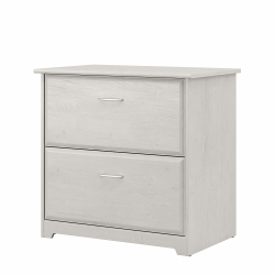Bush Furniture Cabot 2-Drawer Lateral File Cabinet, Linen White Oak, Standard Delivery