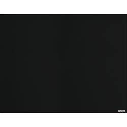 """Lorell Magnetic Dry-Erase Glass Board, 48"""" x 36"""", Black"""