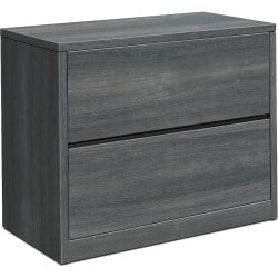"HON® 10500 Series 36""W 2-Drawer Lateral File Cabinet, Sterling Ash"