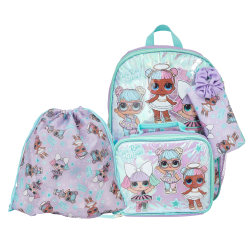Accessory Innovations 5-Piece LOL Star Appeal Backpack Set, Purple