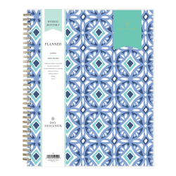 """Blue Sky™ Day Designer Weekly/Monthly Planner, 8-1/2"""" x 11"""", Tile, January To December 2021, 101411"""