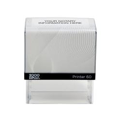 "Custom 2000 PLUS® Self-Inking Notary Stamp, P60, 1-3/8"" x 2-15/16"" Impression"