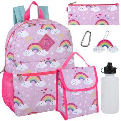 Trailmaker 6-Piece Backpack Set, Pink