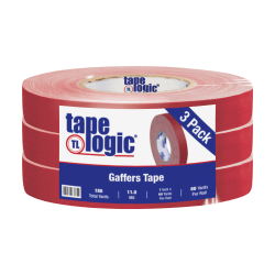 "Tape Logic Gaffers Tape, 1"" x 60 Yd., 11 Mil, Red, Case Of 3 Rolls"