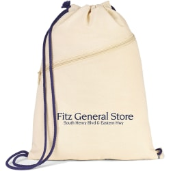 "Custom Sage Cotton Convertible Cinchpack, 17"" x 13"", Natural"
