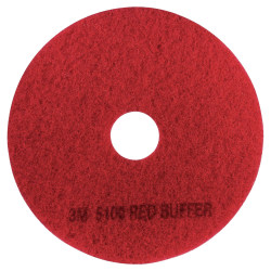 "3M™ 5100 Buffer Floor Pads, 20"" Diameter, Red, Box Of 5"