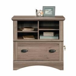 """Sauder® Harbor View 32""""W Lateral 1-Drawer File Cabinet, Salt Oak"""