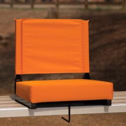 Flash Furniture Grandstand Comfort Seat, Orange/Black