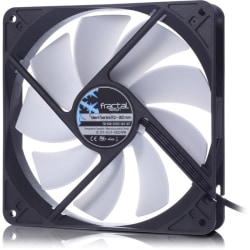 Fractal Design Silent R3 140mm Cooling Fan White - 1 x 140 mm - 1 x 56.1 CFM - 21.6 dB(A) Noise - Rifle Bearing - 3-pin