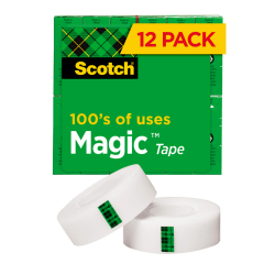 """Scotch® Magic™ 810 Tape, 3/4"""" x 1,000"""", Pack Of 12 Rolls"""