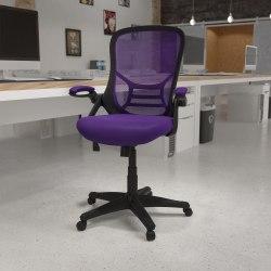 Flash Furniture Ergonomic Mesh High-Back Office Chair, Purple