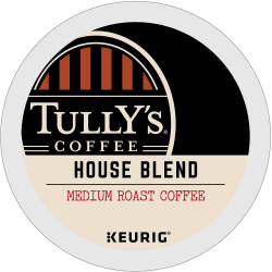 Tully's® Coffee Signature House Blend Coffee Single-Serve K-Cup®, Carton Of 24
