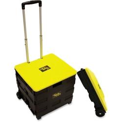 "dbest Rolling Quik Cart - Internal Dimensions: 15"" Length x 14"" Width x 14"" Height - External Dimensions: 21"" Length x 19"" Width x 19"" Depth x 20"" Height - 80 lb - Lid Lock Closure - Plastic, Aluminum - Black, Yellow"