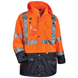Ergodyne GloWear® 8386 Type R Class 3 High-Visibility Outer Shell Jacket, Small, Orange