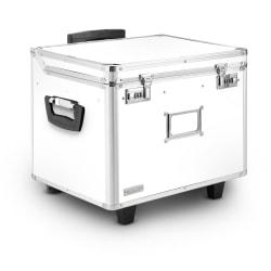 "Ideastream Vaultz Locking Mobile Storage File Chest, Legal/Letter Size, 16"" x 18"" x 14"", White"
