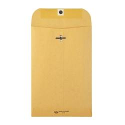 "Quality Park Clasp Envelopes, 6"" x 9"", Brown, Box Of 500"