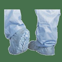 Medline Skid-Resistant Scrub Shoe Covers, Blue, Pack Of 100