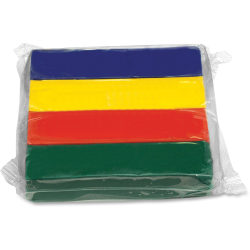 Creativity Street Creativity Street Modeling Clay - Classroom - Recommended For 3 Year - 1 lb Basis Weight - 1 Pack - Red, Yellow, Blue, Green