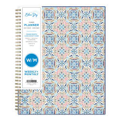 """Blue Sky™ CYO Academic Weekly/Monthly Planner, 8-1/2"""" x 11"""", Multicolor, July 2020 to June 2021, 119237"""
