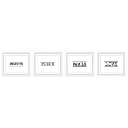 "PTM Images Expressions Framed Wall Art, Memories Set, 12""H x 14""W, White"