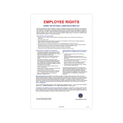 """ComplyRight Federal Contractor Posters, English, National Labor Relations Act, 11"""" x 17"""""""
