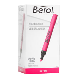 Berol® by Eberhard Faber® 4009® Highlighters, Pink, Box Of 12