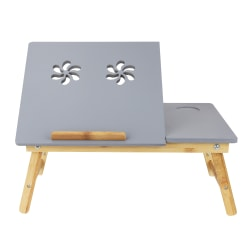 "Mind Reader Coolpad Flip Top Laptop Desk, 21-1/4"" x 13"", Gray"