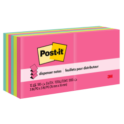"Post-it® Notes Pop-Up Notes, 3"" x 3"", Cape Town, Pack Of 12 Pads"