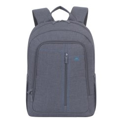 "Rivacase 7560 Canvas Backpack for 15"" Laptops, Grey"