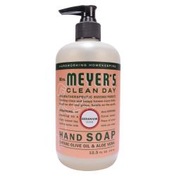 Mrs. Meyer's Clean Day Liquid Hand Soap, Geranium Scent, 12.5 Oz, Carton Of 6 Bottles