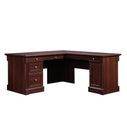 Sauder® Palladia Collection L-Shaped Desk, Select Cherry