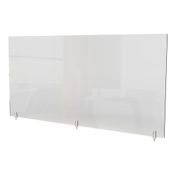 "Ghent Partition Extender, With Screws, 18""H x 48""W x 13/16""D, Clear"