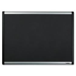 "Lorell® Mesh Fabric Bulletin Board, 36"" x 48"", Aluminum Frame With Silver Finish"